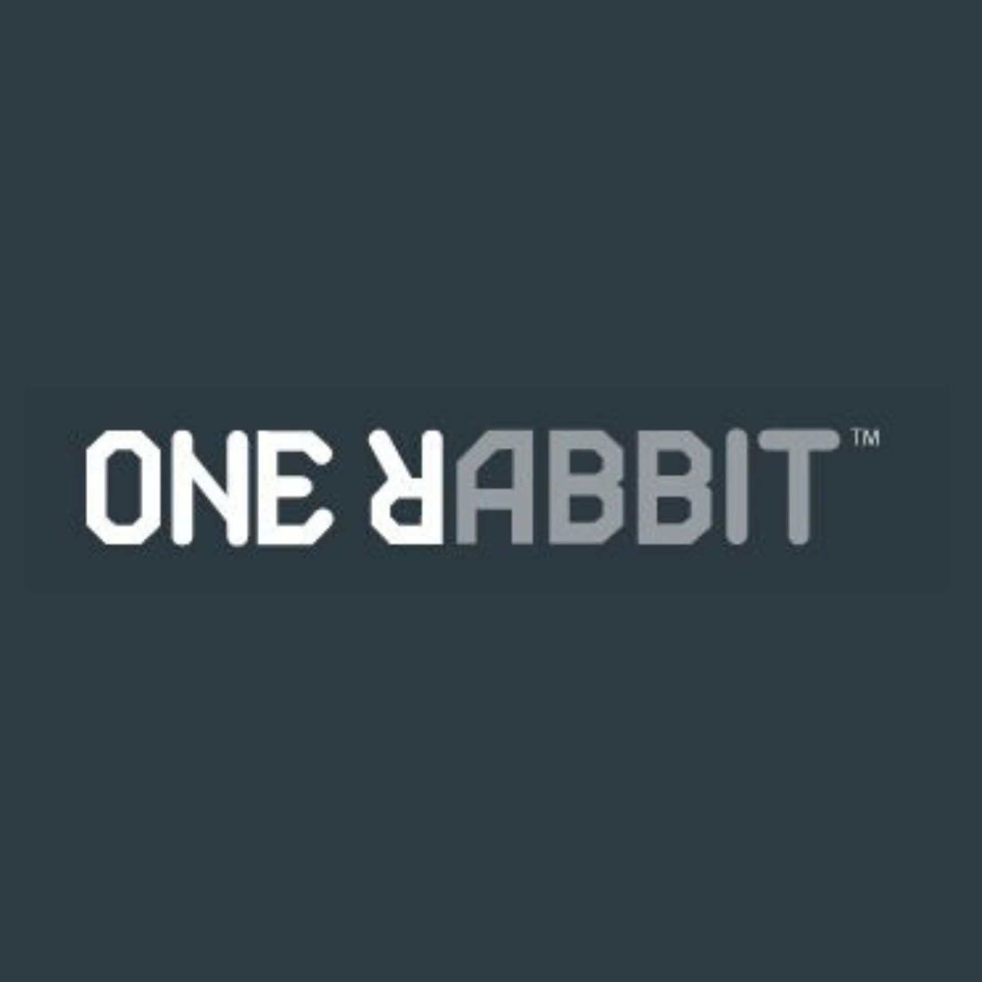 One Rabbit marketing firm black and white logo